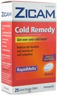 Zicam - Cold Remedy Rapid Melts Cherry - 25 Tablets - $10.80