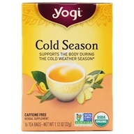 Image of Yogi Tea - Cold Season Herbal Caffeine Free Tea - 16 Tea Bags