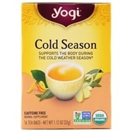 Yogi Tea - Cold Season Herbal Caffeine Free Tea - 16 Tea Bags