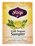 Yogi Tea - Cold Season Tea Sampler Caffeine Free - 16 Tea Bags (076950450530)