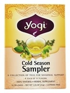 Yogi Tea - Cold Season Tea Sampler Caffeine Free - 16 Tea Bags by Yogi Tea