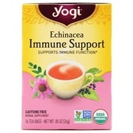 Yogi Tea - Echinacea Immune Support Tea with Elderberry Caffeine Free - 16 Tea Bags (076950450103)