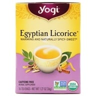 Image of Yogi Tea - Egyptian Licorice Tea Organic Caffeine Free - 16 Tea Bags