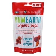 Yummy Earth - Organic Lollipops Gluten Free Fruit Flavors - 3 oz. (85g) 15 Lollipops, from category: Health Foods