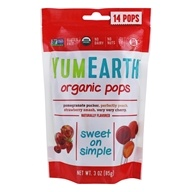 Yummy Earth - Organic Lollipops Gluten Free Fruit Flavors - 3 oz. (85g) 15 Lollipops