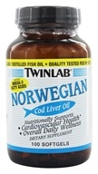 Image of Twinlab - Norwegian Cod Liver Oil - 100 Softgels