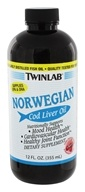 Image of Twinlab - Norwegian Cod Liver Oil Cherry - 12 oz.