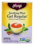Yogi Tea - Get Regular Organic Gentle Herbal Laxative Caffeine Free Soothing Mint - 16 Tea Bags