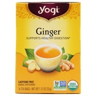 Yogi Tea - Ginger Organic Caffeine Free Tea - 16 Tea Bags, from category: Teas