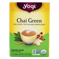 Yogi Tea - Chai Green Organic Tea - 16 Tea Bags, from category: Teas