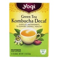 Yogi Tea - Green Tea Decaf Kombucha with Organic Green Tea - 16 Tea Bags
