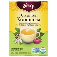 Yogi Tea - Green Tea Kombucha with Organic Green Tea - 16 Tea Bags