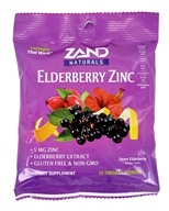 Zand - Herbalozenge Elderberry Zinc Black Elderberry Flavor 5 mg. - 15 Lozenges by Zand