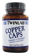 Twinlab - Le cuivre couvre 2 mg. - 100 Capsules