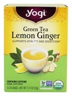 Yogi Tea - Green Tea Organic Lemon Ginger - 16 Tea Bags ...