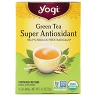 Yogi Tea - Green Tea Super Anti-Oxidant Anti- Aging Formula - 16 Tea Bags - $2.99