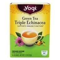 Yogi Tea - Green Tea Triple Echinacea with Elderberry - 16 Tea Bags
