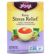 Image of Yogi Tea - Kava Stress Relief Natural Organic Caffeine Free - 16 Tea Bags