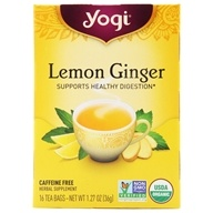 Yogi Tea - Lemon Ginger Organic Tea Caffeine Free - 16 Tea Bags by Yogi Tea