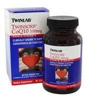 Twinlab - Twinsorb CoQ10 Double Strength 100 mg. - 45 Softgels by Twinlab