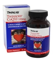 Twinlab - Twinsorb CoQ10 Double Strength 100 mg. - 45 Softgels, from category: Nutritional Supplements