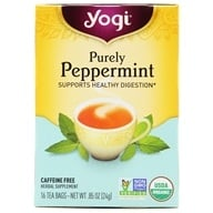 Image of Yogi Tea - Purely Peppermint Organic Tea Caffeine Free - 16 Tea Bags