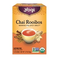 Image of Yogi Tea - Chai Rooibos Organic Tea Caffeine Free - 16 Tea Bags Formerly Chai Redbush