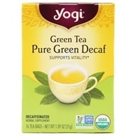 Yogi Tea - Green Tea Pure Green Decaf - 16 Tea Bags Formerly Simply Green Decaf by Yogi Tea
