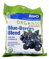 Zand - Herbalozenge Organic Blue-Berries Blend with Zinc & Vitamin C Elderberry Blueberry Flavor - 18 Lozenges (041954000081)