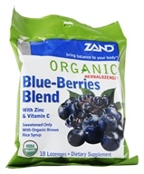 Zand - Herbalozenge Organic Blue-Berries Blend with Zinc & Vitamin C Elderberry Blueberry Flavor - 18 Lozenges