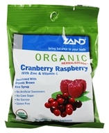 Zand - Herbalozenge Organic Cranberry Raspberry with Zinc & Vitamin C Cranberry Raspberry Flavor - 18 Lozenges, from category: Health Foods