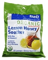 Zand - Herbalozenge Organic Lemon Honey Soother with Zinc & Vitamin C Lemon Flavor - 18 Lozenges