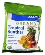 Image of Zand - Herbalozenge Organic Tropical Soother with Zinc & Vitamin C Tropical Fruit Flavor - 18 Lozenges