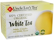 Uncle Lee's Tea - Organic White Tea - 18 Tea Bags