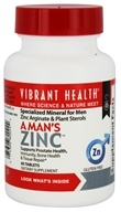 Vibrant Health - A Man's Zinc - 60 Tablets