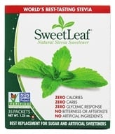 Image of SweetLeaf - 100% Natural Stevia Sweetener - 35 x 1g Packets