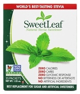 SweetLeaf - 100% Natural Stevia Sweetener - 35 x 1g Packets by SweetLeaf