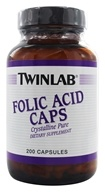 Image of Twinlab - Folic Acid Caps Crystalline Pure 800 mcg. - 200 Capsules