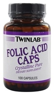 Image of Twinlab - Folic Acid Caps Crystalline Pure 800 mcg. - 100 Capsules