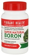 Vibrant Health - Super Natural Boron - 60 Vegetarian Capsules