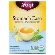 Yogi Tea - Stomach Ease Organic Tea Caffeine Free - 16 Tea ...