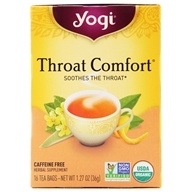 Yogi Tea - Throat Comfort Organic Tea Caffeine Free Licorice - 16 Tea Bags by Yogi Tea