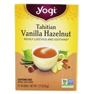 Yogi Tea - Tahitian Vanilla Hazelnut Tea Caffeine Free - 16 Tea Bags, from category: Teas