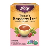 Image of Yogi Tea - Woman's Organic Raspberry Leaf Tea - 16 Tea Bags