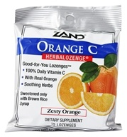 Image of Zand - Herbalozenge Orange C with Vitamin C Orange Flavor - 15 Lozenges