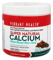Vibrant Health - Super Natural Calcium Pure Plant Calcium from Terminalia Arjuna Bark Version 2 Triple Berry - 7.05 oz. (074306800152)