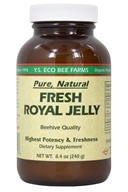 YS Organic Bee Farms - Fresh Royal Jelly (Glass Bottle) 240000 mg. - 8.4 oz. (726635123128)