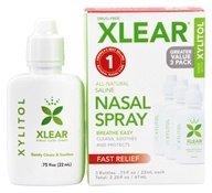 Xlear - Nasal Wash Saline with Xylitol - 3 Pack(s) by Xlear