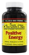 YS Organic Bee Farms - Positive Energy - 75 Capsules