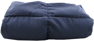Image of Grampa's Garden - Weighted Heatable Body Shawl Navy Flannel